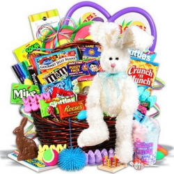 Easter bunny gifts baskets to cebu send gifts to philippines bunny on easter basket negle Images