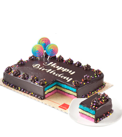 Rainbow Dedication Cake By Red Ribbon Delivery To Cebu Mother S Day Cake To Cebu Philippines